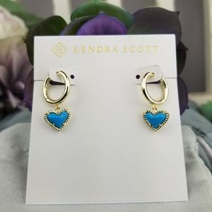 Kendra Scott, Ari Heart, Turquoise, Earrings